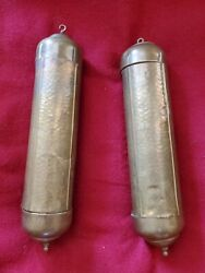 Pair Of Antique German Grandfather Clock Weights