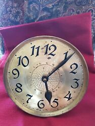 Antique German Grandfather Clock Dial And Movement