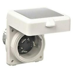 Hubbell Twist Lock Shore Power Inlet 50a 125/250v Marine 3-pole 4-wire White