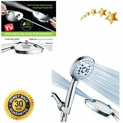 High Pressure 8-mode Handheld Shower Head Antimicrobial Nozzles 6 Ft. Hose