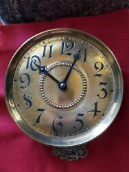 Antique German Fms Grandfather Clock Dial And Movement