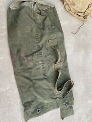 """Vintage 1944 Wwii Us Army Canvas Duffle Bag Military Marines Carter Bros 36"""""""