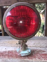 Vintage Red Glass 9165 Unity Mfg Co Chicago Usa 2 Police/fire Truck Spot Light