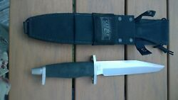 Vintage Gerber Bmf Fixed Blade Knife With Sheath Tactical Survival