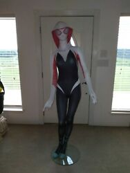 Life Size 6 Foot Tall Marvel Spider Gwen Stacy Statue Full Size Prop