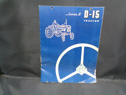 Vintage Allis-chalmers Series Ii D-15 Tractor Sales Brochure W/ 4 Page Fold-out