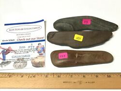 3 Authentic Native American Unfinished Birdstone/gorgets All Found In Oh Rivers