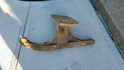 Antique Wood Sit Sled, Sled, Metal Runner, Christmas, Decoration, Porch
