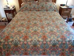 Custom Made Blue Floral Palampore Sateen Queen Duvet Cover And Standard Shams