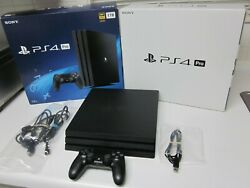 Playstation 4 Pro 1tb 4k Console Ps4 Pro +controller +cords +box Cuh-7215b Nice