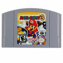 For Nintendo N64 Mario Party 3 Video Game Cartridge Console Card Us Version