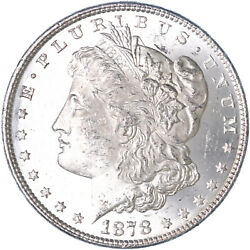 1878 Morgan Silver Dollar 8 Tail Feathers Brilliant Uncirculated See Pics K349