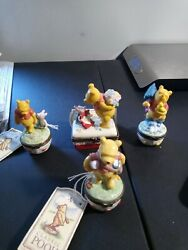 Midwest Of Cannon Falls Winnie The Pooh Hinged Trinket Boxes Lot Of 4