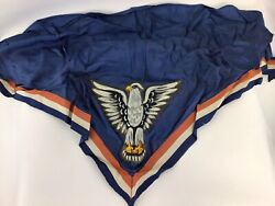 1960's Eagle Scout Neckerchief Silk W/leather Patch