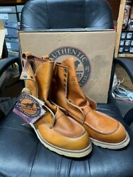 100 Authentic Vintage Red Wing 877 Irish Setter 15 D New In Box Made N Usa Nos