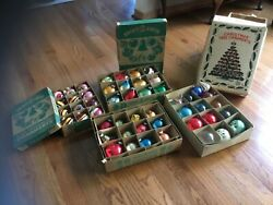 Lot Of Vintage Christmas Ornaments Shiny Brite And Made In Japan