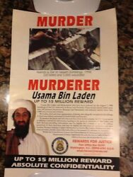 Usama Bin Laden Wanted Poster- Us State Dept 1999.original Lot Of 10 Posters