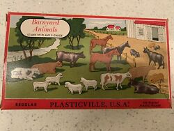 Vintage Plasticville, Usa Barnyard Animals 1606 100 O And S Gauge Used With Ob