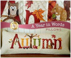 Autumn Pillow A Year In Words by Shabby Fabrics