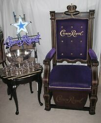 ♚ Man Cave - Crown Royal Throne And Light W/ Wallace Trash Can Punch Set