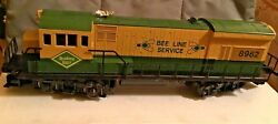 """Lionel O Scale Reading U-36b """"bee Line Sevice"""" 6-8962 Diesel Engine"""
