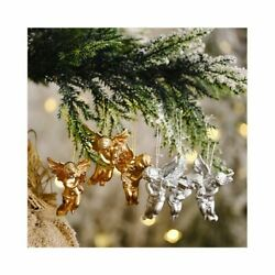 Christmas Angel Pendant Gold Silver Little Doll Xmas Decor Party Home Ornaments