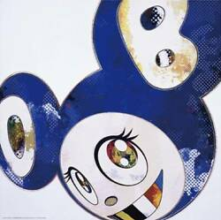 Takashi Murakami Poster And Then Blue Polke's Methods Edition 300 Signed.