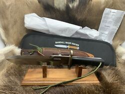 Randall Model 14 Attack Knife With Micarta Handles Leather Sheath / Pouch Mint++