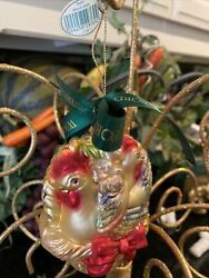 Waterford Holiday Heirlooms Ornament Three French Hens Nib