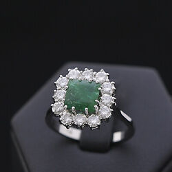 Ring Hera Gold 18 Carats Bright 0.60 Ct Natural Doesn't Treated Emerald 0.85 Ct