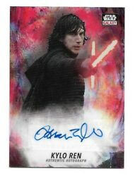 2021 Topps Chrome Star Wars Galaxy Adam Driver Red Refractor Autograph 1/5