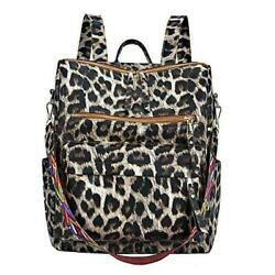 Women Fashion Backpack Purse Convertible Daypack Colorful Strap Brown Leopard $44.34