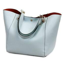 Tote Handbags for Women Faux Leather Hobo Bags Large Bucket Travel Light Blue $44.02