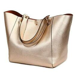 Tote Handbags for Women Faux Leather Hobo Bags Large Bucket Travel Rose Gold $44.04