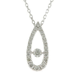 Mikimoto Necklace Silver 18k K18 White Gold Dia Dancing Stone From Japan Used