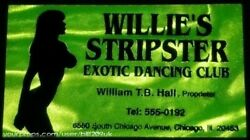 Blues Brothers 2000, Willie's Stripster Exotic Dancing Club Business Card Prop