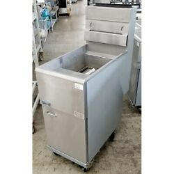 Pitco 45c Fryer, Natural Gas, 42 Pounds, 122,000 Btu/hour, Stainless Steel