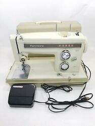 Sears Kenmore Portable Sewing Machine Model 158. 13571 W Foot Pedal And Case