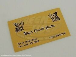 Ghostbusters 2 Rayand039s Occult Books Buisness Card - Prop
