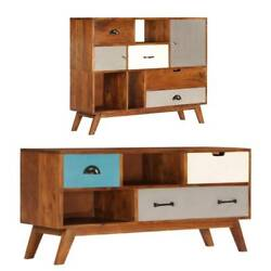 Tv Stand Cabinet Media Console Table Buffet Sideboard Storage Drawer Shelf Retro