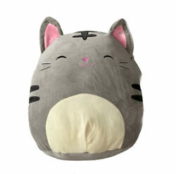 Squishmallow Tally The Grey Cat 24 Inches, Jumbo Super Soft Pillow, Nwot