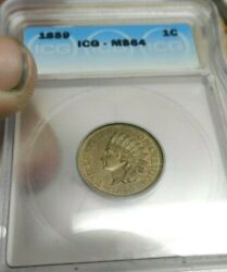 1859 Indian Head Cent Icg Ms64 Exquisite Coin Rare