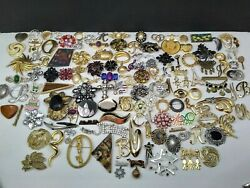 Estate Sale Huge Brooch Pin Lot 128 Assorted Vintage-now Brooches