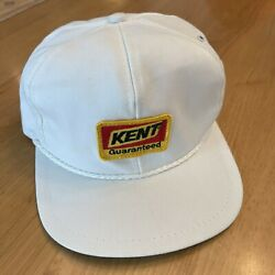 Vintage 80s 90s Kent Feeds Guaranteed Golf Style Hat Patch K-brand Usa White