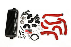 Grimmspeed Front Mount Intercooler Kit Black Core W/ Red Piping For 2015+ Sti