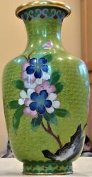 Chinese Cloisonne Vase 7 Inches Tall From Peopleand039s Republic Of China
