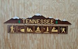 Tennessee/rustic/carved/mountains/wood/sign/recreational Icons/cabin/lodge/home