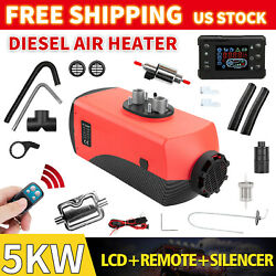 5kw 12v Diesel Air Heater Voice Prompt Function Fuel Pump Thermostat Self-test