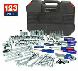 Mechanic Tools 123pc For Car Home Quick Release Ratchet Handle Wrench Socket Set