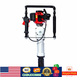Gas-powered Jack Hammer Post Pile Driver Garden Fence Stakes Drill Push Machine